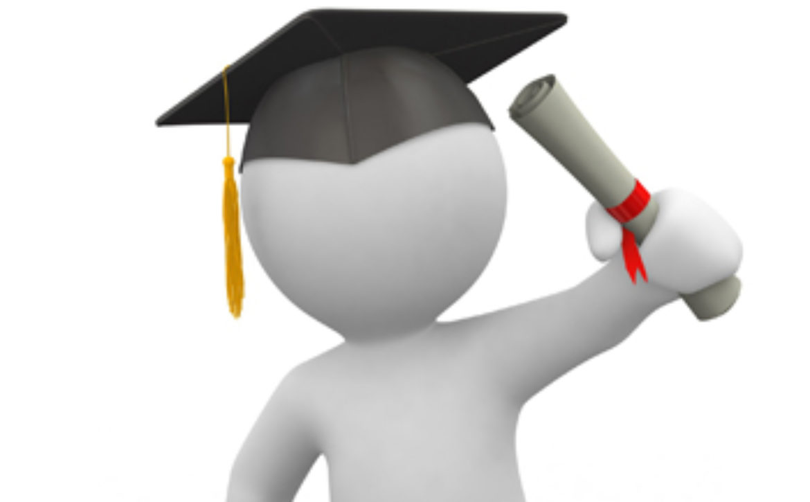student holding the degree with pride
